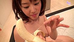 Mao Playing With Peeled Banana