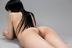 Moeka Kurihara Lying Nude On Her Front Long Hair Over Her Back Nice Ass