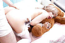 Rika Mari fucked from behind ass raised wearing stockings