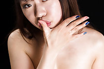 Arimura Chiho sucks two cocks and takes cum in her mouth
