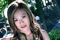 Breasty Iris Strips Green Dress And Plays With Big Dildo