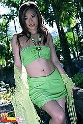Wearing Green Dress