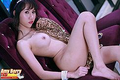 Wearing Bracelet Round Breast Knee Raised Bare Foot