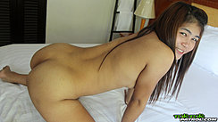 On All Fours Naked On Bed Nice Ass
