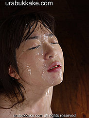 Kaho With Her Face Glazed With Bukkake Cumshots